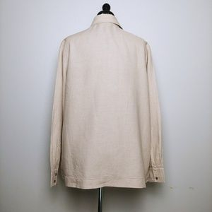 Kate Hill Tops - Tan Linen Top